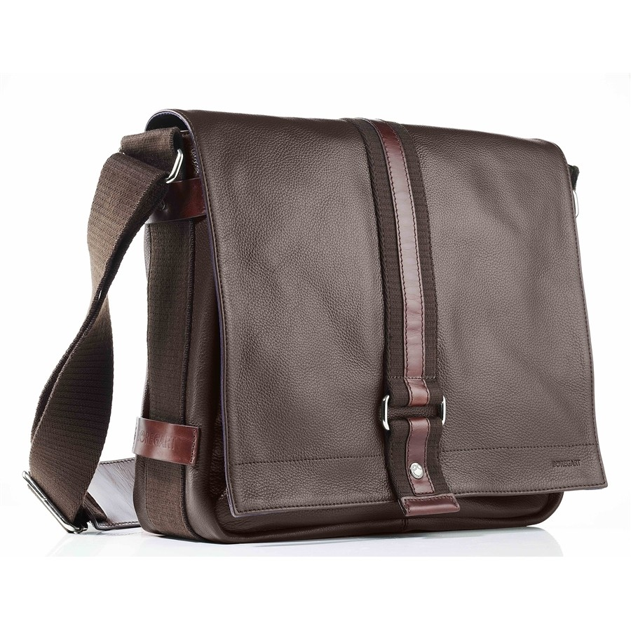 Sac nomade besace en cuir chocolat cr ation boregart made in fr - Canape cuir made in france ...
