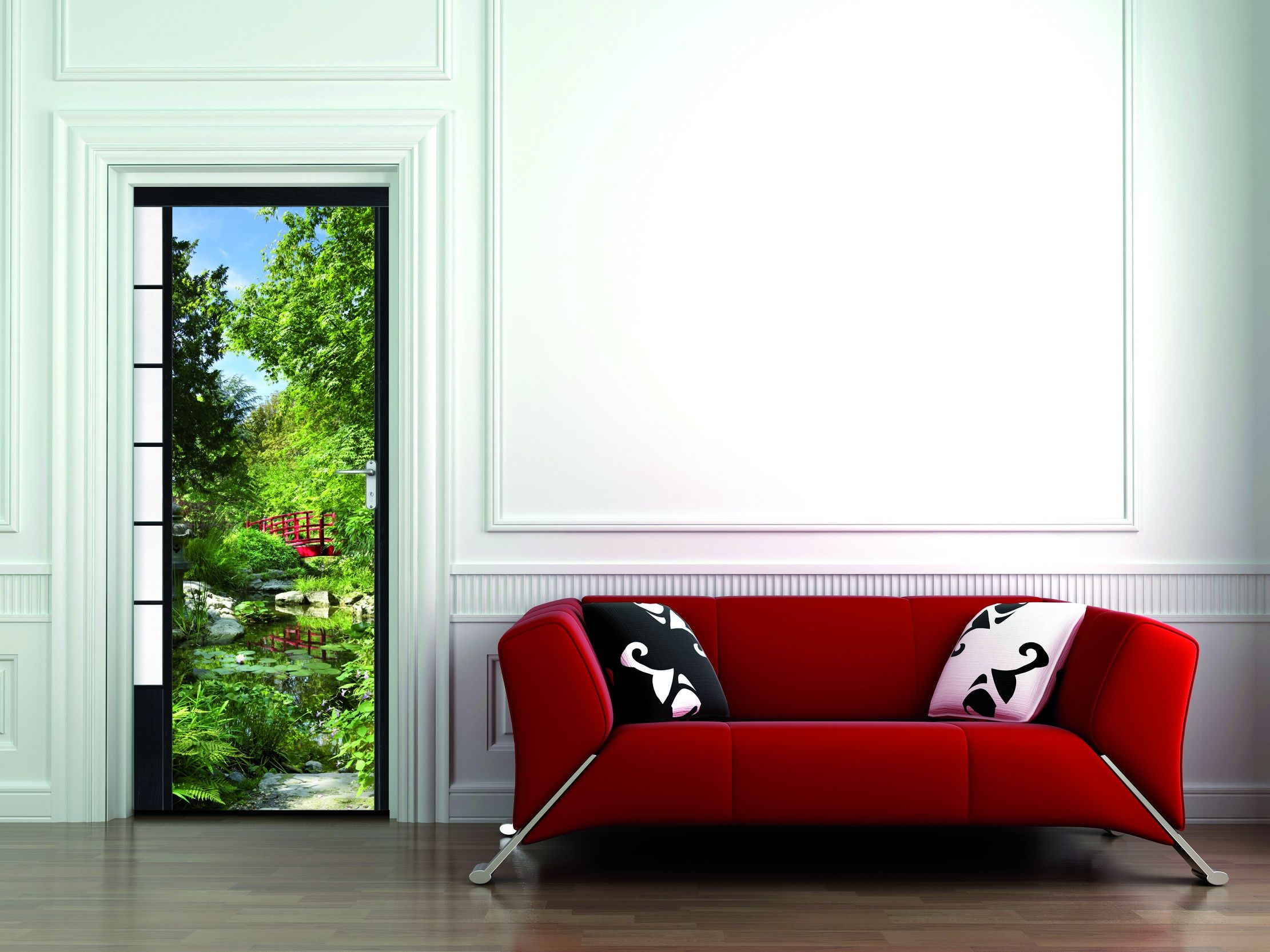 sticker de porte trompe l 39 oeil osaka france avenue. Black Bedroom Furniture Sets. Home Design Ideas