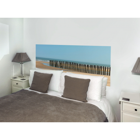 sticker t te de lit mer du nord en trompe l 39 oeil france avenue. Black Bedroom Furniture Sets. Home Design Ideas