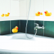 "Stickers carrelage mural ""Petits Canards"""