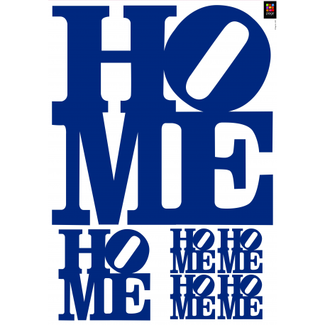 "Sticker mural ""HOME"""