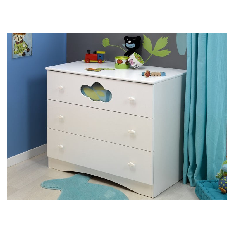 Commode pour enfant alt a blanc france avenue for Commode pour bebe
