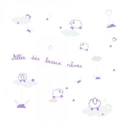 """Stickers pour Bébé Modèle """"Allée des beaux rêves"""" - coloris violet"""
