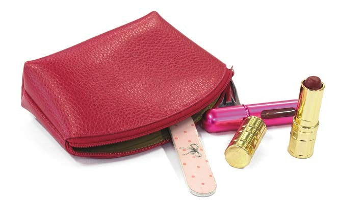 Trousse en cuir maquillage france avenue - Trousse de rangement maquillage ...