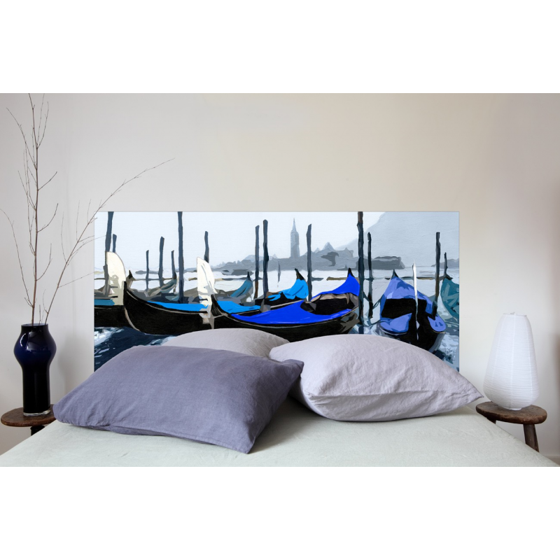t te de lit en tissu venise bleue france avenue. Black Bedroom Furniture Sets. Home Design Ideas