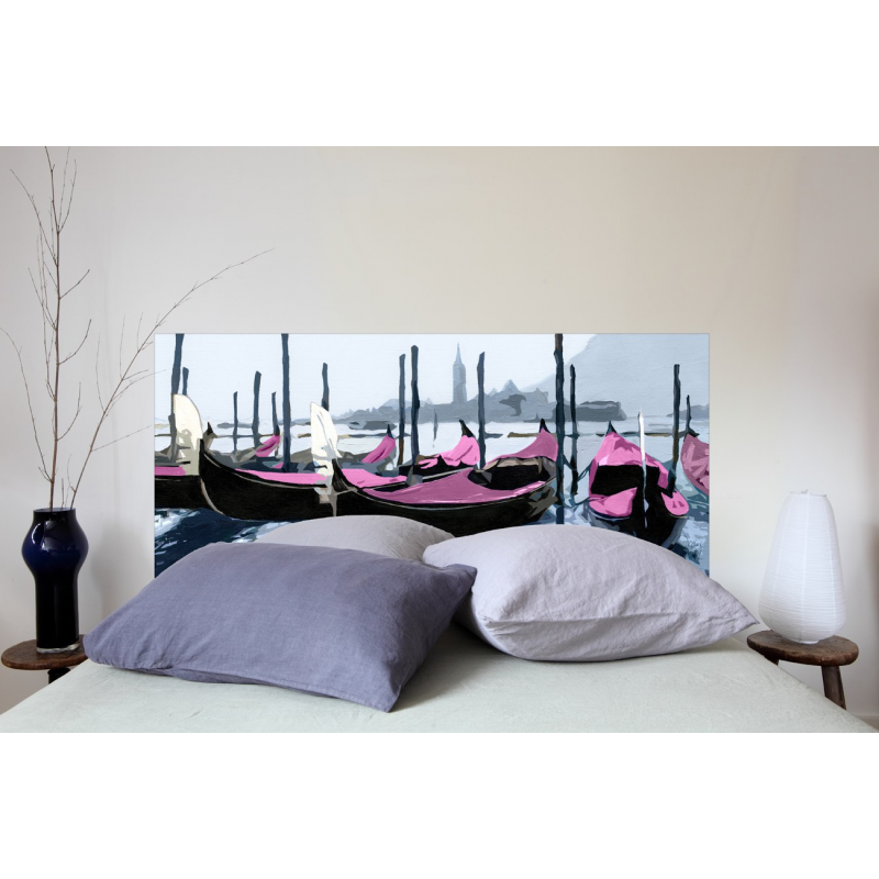 t te de lit en tissu venise rose france avenue. Black Bedroom Furniture Sets. Home Design Ideas