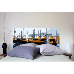 """Tête de lit en tissu """"Gondole Venise Orange"""""""