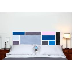 """Tête de lit en tissu """"Poudrées Bleue"""""""