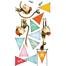 Sticker enfant - Singes acrobates