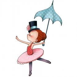 Sticker enfant - Le cirque - La danseuse