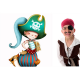 Sticker enfant - Le pirate et le chat