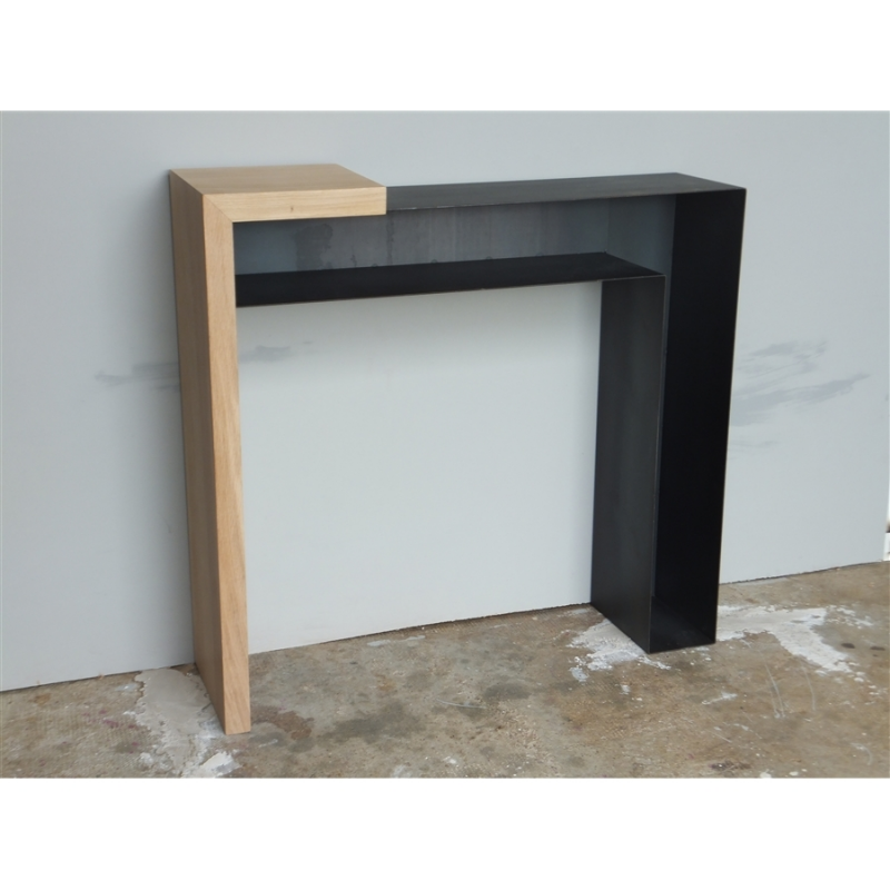 console design bois et m tal konnect atelier mobibois. Black Bedroom Furniture Sets. Home Design Ideas