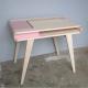 Bureau rétro contemporain en bois Kolorea rose