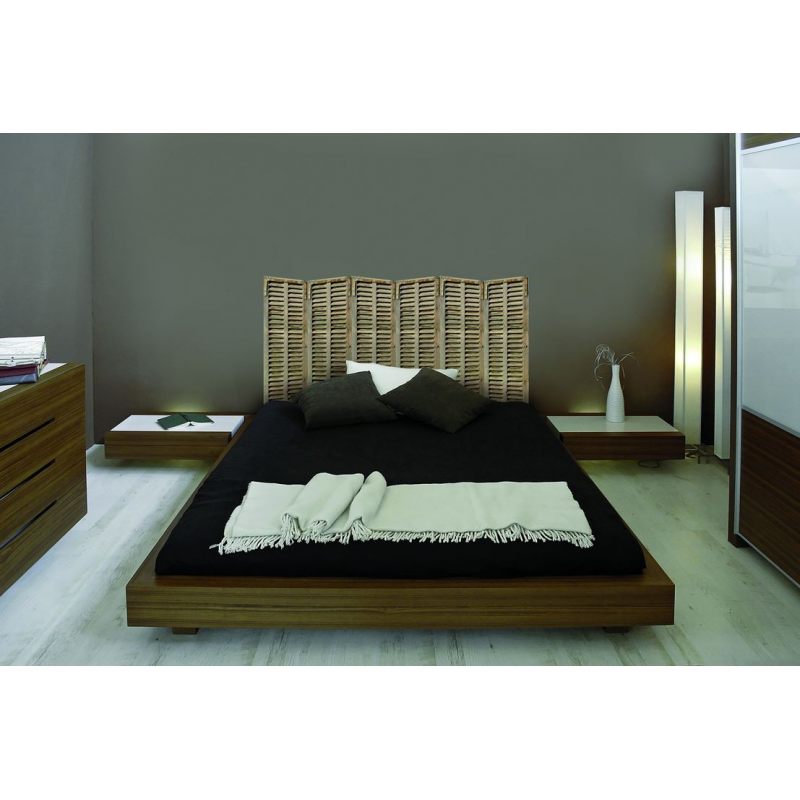 sticker t te de lit les persiennes trompe l 39 oeil. Black Bedroom Furniture Sets. Home Design Ideas
