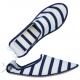 Babouche mixte Mat esprit marin intérieur éponge et semelle cuir