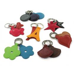 Porte-clés étoile en cuir