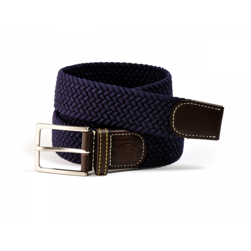 ceinture en cuir homme ceinture tress en cuir belt52 bleu marine fabriqu en france sur. Black Bedroom Furniture Sets. Home Design Ideas