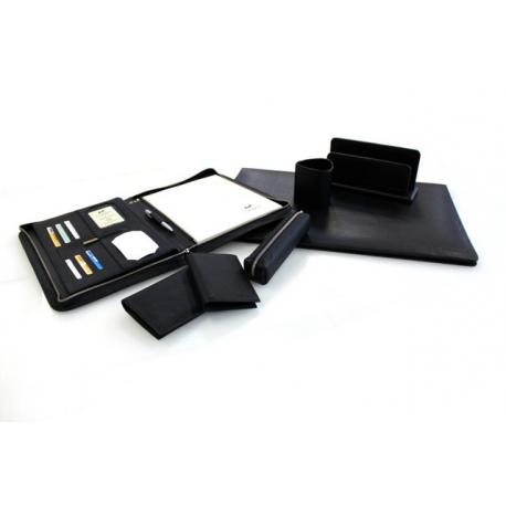 Classeur à courrier BUSINESS en cuir noir