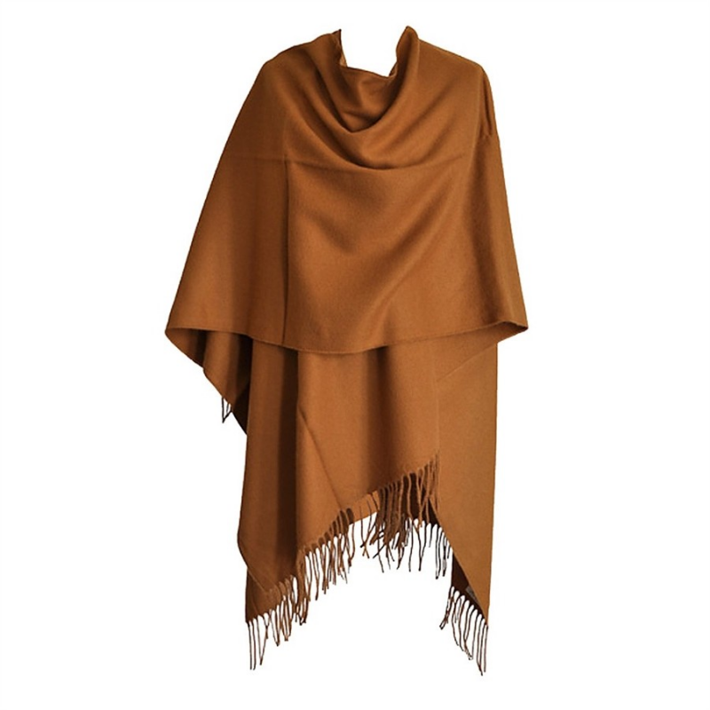 This poncho is nicely made. The cashmere is thin but beautiful. Won't keep out the cold of a breezy day outdoors, but is perfect for indoor wear. Just as you might put on a sweater on a chilly day, you could simply throw this on. For me, it is a nice length for my 5'2