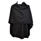Grand Poncho Noir arrondi