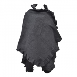 Poncho cape polaire femme anthracite
