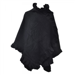 poncho cape polaire femme noir toutacoo sur france avenue. Black Bedroom Furniture Sets. Home Design Ideas