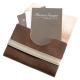 Porte cartes de visites en cuir marron pleine fleur 20 emplacements de cartes