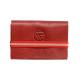 Porte cartes de visites en cuir pleine fleur 20 cartes Faugier rouge