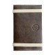 Carnet de notes en cuir pleine fleur made in France Faugier Marron