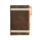 Carnet de notes en cuir marron pleine fleur made in France