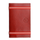 Carnet de notes en cuir pleine fleur made in France Faugier rouge