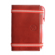 Carnet de notes en cuir rouge pleine fleur made in France Faugier