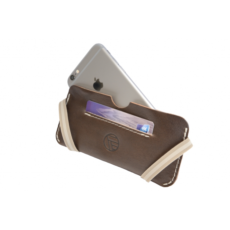 Etui IPhone 6 en cuir pleine fleur made in France - Faugier