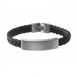 """Bracelet homme """"Le Gentleman"""" en acier àpersonnaliser"""