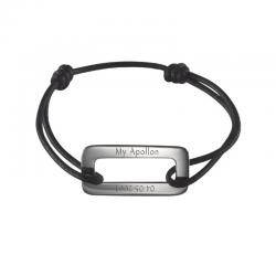 Bracelet homme Médaille L'APOLLON argent à personnaliser