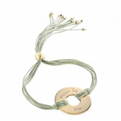"""Bracelet femme """"Rainbow Jeton"""" plaqué or àpersonnaliser"""