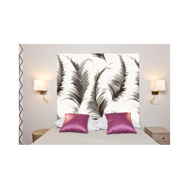 t te de lit en tissu plumes france avenue. Black Bedroom Furniture Sets. Home Design Ideas