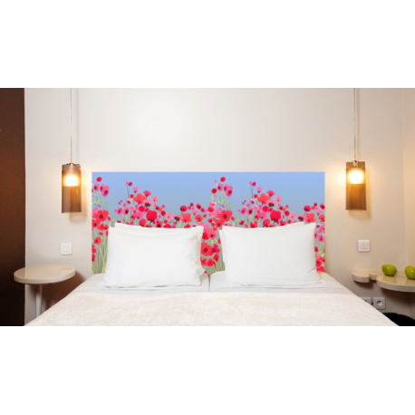 t te de lit en tissu poppy power france avenue. Black Bedroom Furniture Sets. Home Design Ideas