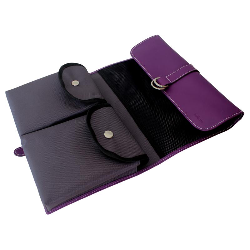 trousse de toilette rabat en cuir violet le site du cuir. Black Bedroom Furniture Sets. Home Design Ideas