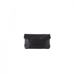 Pochette Medium Noire en Cuir Femme Ripauste