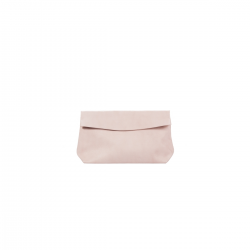 Pochette en cuir Medium Rose poudré