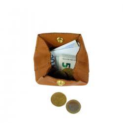 Porte-monnaie Aline Marron en cuir Femme Mamix