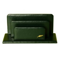 Classeur à courrier 3 volets en cuir Windsor personnalisable