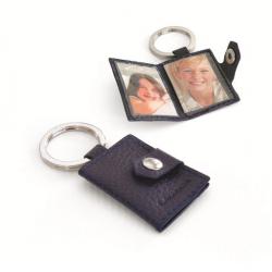 Porte-clés porte-photos personnalisable en cuir