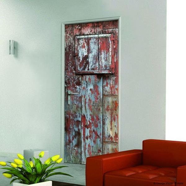 Panneau d coratif pour porte mod le rustique plage for Decorar puertas viejas de interior
