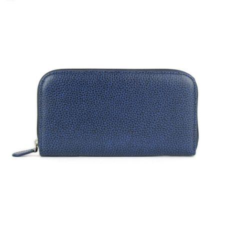 Portefeuille en cuir personnalisable pour femme FRENCHY bleu marine 1