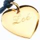 Bracelet Médaille Petits Cœurs en plaqué or à personnaliser