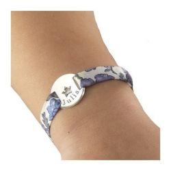 Bracelet Liberty Etoile en argent avec gravure