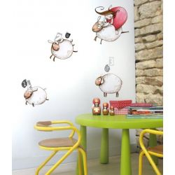 Sticker enfant - Saute-mouton
