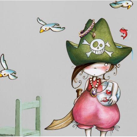 Sticker enfant - Pirata debout